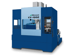 light and dark blue Matsuura VX-1000 machine